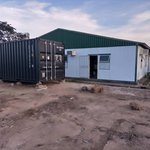 A shipping container arrives at Mzuzu University 2021
